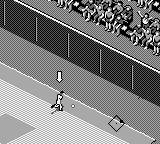 All-Star Baseball 99 Game Boy Reached the fence.
