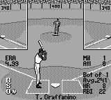 All-Star Baseball 99 Game Boy Waiting for the pitch.