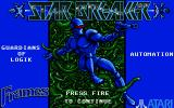 Star Breaker Atari ST Title screen