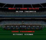 Zico Soccer SNES Ignore the game credits. Just appreciate the guy lifting the cup. And the human crowd. *feels warm*.