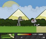 Ninja Golf Browser Approaching a border between grassland and desert