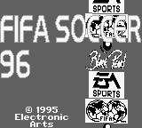 FIFA Soccer 96 Game Boy Title Screen.