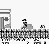 The Flintstones: King Rock Treasure Island Game Boy Avoid or shoot the creature.