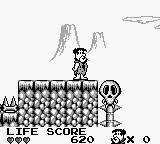 The Flintstones: King Rock Treasure Island Game Boy A skull lift.