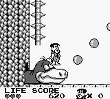 The Flintstones: King Rock Treasure Island Game Boy Use the bubbles to get up higher.