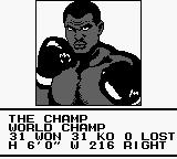 Heavyweight Championship Boxing Game Boy The Champ.