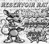 Rats! Game Boy Title Screen.