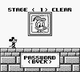 Mickey Mouse: Magic Wands! Game Boy Stage 1 cleared.