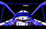 Space Quest: Chapter I - The Sarien Encounter DOS Final approach towards the Saurian's Deltaur battleship