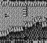 StarHawk Game Boy Making a gap in a barrier.