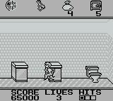 Home Alone Game Boy A clean bathroom