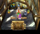 Dragon Quest V: Tenkū no Hanayome PlayStation 2 Grown-up hero later in the game, in a church with Henry