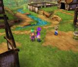 Dragon Quest V: Tenkū no Hanayome PlayStation 2 One of the game's many settlements. Rotating the camera for better view