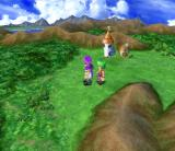 Dragon Quest V: Tenkū no Hanayome PlayStation 2 World map during the day. Great weather!