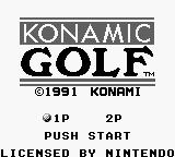 Ultra Golf Game Boy Title screen (Japanese version). 1991.