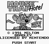 Mouse Trap Hotel Game Boy Title Screen.