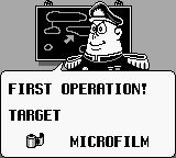 Mad Magazine's Official Spy vs Spy Game Boy First Operation.