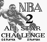 NBA All-Star Challenge 2 Game Boy Title Screen.