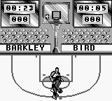 NBA All-Star Challenge 2 Game Boy Playing against Larry Bird.