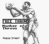 NBA All-Star Challenge 2 Game Boy Free Throws.