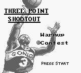 NBA All-Star Challenge 2 Game Boy Three Point Shootout.