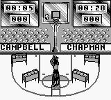 NBA All-Star Challenge 2 Game Boy Shooting in the middle.