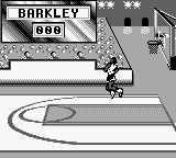 NBA All-Star Challenge 2 Game Boy Spinning in the air.
