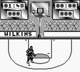 NBA All-Star Challenge 2 Game Boy Shoot from certain spots.