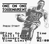 NBA All-Star Challenge 2 Game Boy One on one Tournament.