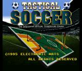 Tactical Soccer SNES Title screen.