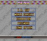Tactical Soccer SNES Menu.