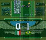 Tactical Soccer SNES A goal was scored... therefore a replay.