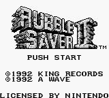 Max Game Boy Title Screen.