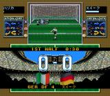 Tactical Soccer SNES Penalty kick.