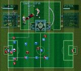 Tactical Soccer SNES Preparing to kick the ball.
