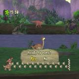The Land Before Time: Big Water Adventure PlayStation The third level is a challenge. The player must complete this course faster than their friend on the opposite bank