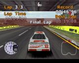 Stock Car Racer PlayStation There's a warning when the final lap starts