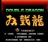 Double Dragon NES Title Screen