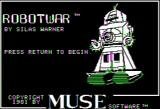 Robot War Apple II Title screen