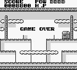 Tail'Gator Game Boy Game over.