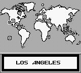 Skate or Die: Tour de Thrash Game Boy Map of the world.