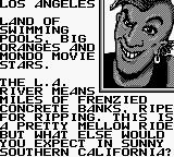 Skate or Die: Tour de Thrash Game Boy Welcome to LA.