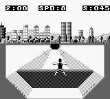 Skate or Die: Tour de Thrash Game Boy Hit a wall.