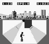 Skate or Die: Tour de Thrash Game Boy Avoid the wall.