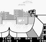 Skate or Die: Tour de Thrash Game Boy Pulling off a trick.