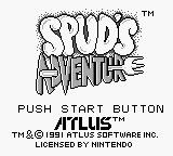 Spud's Adventure Game Boy Title Screen.