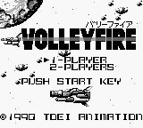 Volleyfire Game Boy Title Screen.