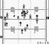 NFL Football Game Boy The ball is thrown.