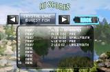 Monster! Bass Fishing Game Boy Advance The high score list tracks your records