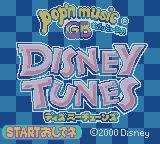 pop'n music GB: Disney Tunes Game Boy Color Title Screen.